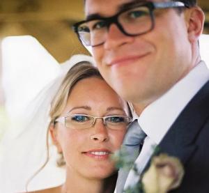 Bride and groom at her wedding in Blackburn